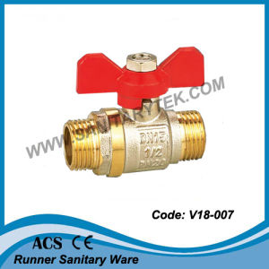 Butterfly Handle Forged Brass Ball Valve (V18-007) pictures & photos