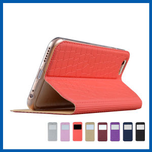 S View Leather Case Stand with Magnetic for iPhone 6 pictures & photos