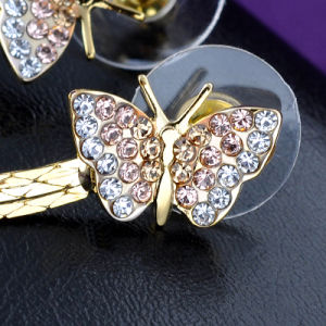 Stylish Butterfly Zinc Alloy Rhinestone Imitation Fashion Jewelry Earring pictures & photos