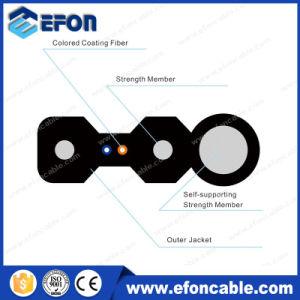 FTTH 2 4core Drop Wire Optical Fiber Cable/Cable Fibra Optica 1hilo pictures & photos