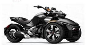 Best Selling 3 Wheel 2015 Can-Am Spyder F3 -S Motorcycle