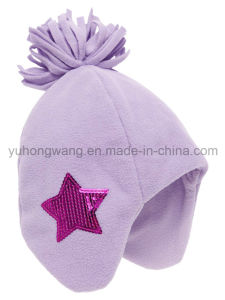 Fashion Winter Knitted Polar Fleece Hat/Cap with Knitting Ball pictures & photos