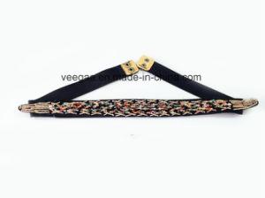 Ladies New Fashion PU Belt Handmade Bead Belt Elastic Belt