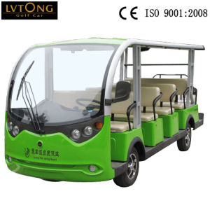 14 Seaters Electric Sightseeing Bus for Sale pictures & photos