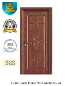 Simplified Chinese Style MDF Door for Interior with Solid Wood (xcl-002) pictures & photos
