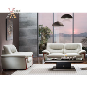 White Leather Sofa (821) pictures & photos
