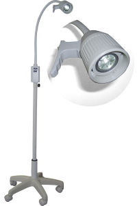 Halogen Examination Lamp Ks-Q35 White Mobile Medical Light for Gp, E. N. T. Ophthalmology, Gynaecology, Theatre, Minor Operation, 35W Halogen Bulb