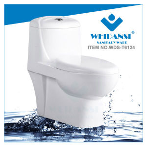Weidansi Ceramic Siphonic S-Trap One Piece Toilet (WDS-T6124)