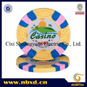 9.5g 3-Color Pure Clay Stickerchip (patent) (SY-C08-1) pictures & photos