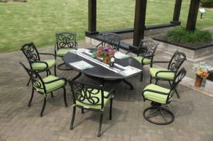 Luxe 9 PC Dining Set Garden Furniture pictures & photos