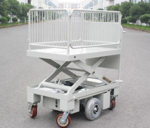 Electric Scissor Lift Table with Wire Fence (HG-1090B)