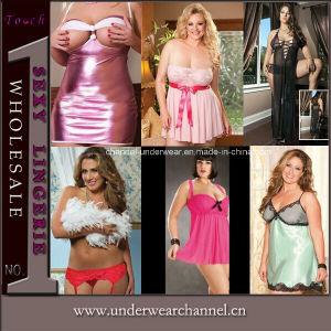 Sexy Women Baby Doll Chemise Sleepwear Plus Size Underwear (T2413P) pictures & photos