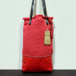 Original Hand-Woven Cotton and Line Bag Genuine Leather Lady Handbags