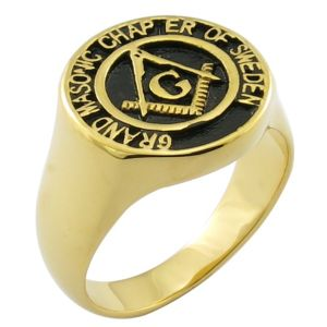 18k Gold Custom Design Gifts Souvenirs Masonic Ring pictures & photos