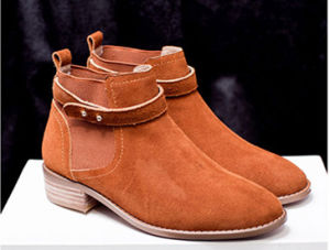 Hot Sale Cow Leather Women Shoes pictures & photos
