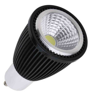 5W GU10 3000k COB LED Spotlight with Black Aluminum