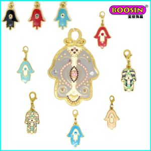 Manufacturer Custom Cheap Enamel Hamsa Jewelry Necklace Pendant pictures & photos