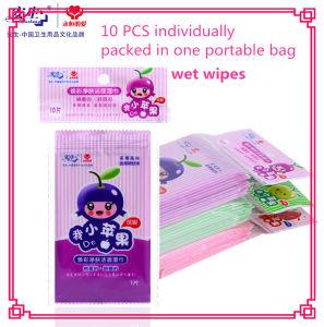 Organic Spunlace Plain Non-Woven Wet Wipe 10 PCS pictures & photos
