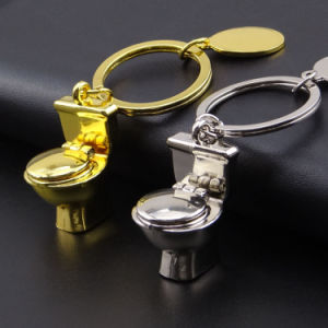 New Design Custom Metal Gold Closestool Keychain in Closestool pictures & photos