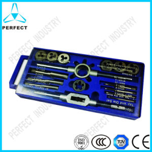 High Quality 16PCS Tap and Die Set in Plastic Case pictures & photos