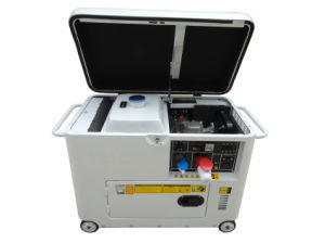 AC Single Phase Output Type 5kw Small Silent Diesel Generator