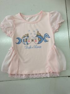 Cute Baby T-Shirt Dress in Children Clothes with Net Fabric (SGT-001) pictures & photos
