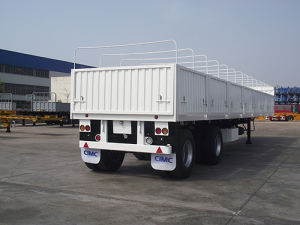 Cimc 14.5m 2-Axle Drop Side Cargo Semi-Trailer Truck Chassis pictures & photos