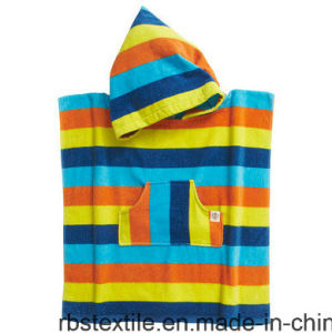 Reactive Printing Bath Poncho Beach Poncho for Kids/Children with 100% Cotton pictures & photos
