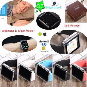 SIM Card Support Mtk2502 Smart Watch Mobile Phone Q7 pictures & photos