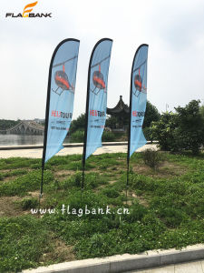 3.4m Exhibition Aluminium Digital Printing Flying Flag/Feather Flag pictures & photos