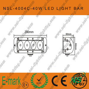 40W CREE Single Row Work Light Bar, Offroad Super Bright (NSL-4004C) pictures & photos