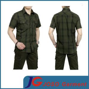 Business Casual Plaid Short Sleeve Shirt for Men (JS9028m) pictures & photos