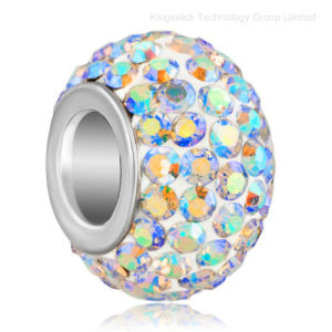 Wholesale Fashion Charm Rondelle European Big Hole Crystal Beads pictures & photos