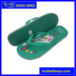 PVC Casual Style Slipper Sandal Shoes with Elephant Print