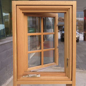 America Style Casement Wood Aluminum Window with Crank Operator pictures & photos