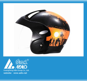 Adlo Black Open Face Motorcycle Helmet (303A)