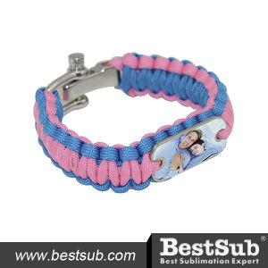 Bestsub Personalized Sublimation Rescue Paracord Bracelet (SSSL-P) pictures & photos