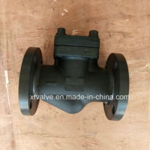DIN Standard Forged Steel Flange Connection End Lift Check Valve