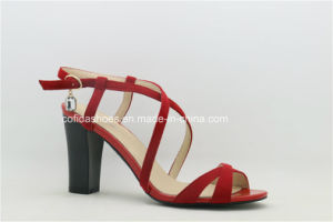 Sexy High Heels Leather Women Sandals pictures & photos