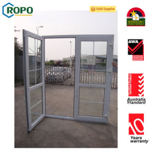 As2047 Double Glass UPVC/ PVC French Glass Doors pictures & photos