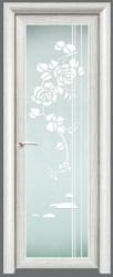 Ash Color Aluminium Tempered Glass Bathroom Doors