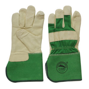 Heavy Duty Canadian Rigger Gloves Leather Work Safety Gauntlet Glove pictures & photos