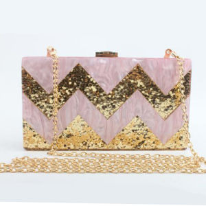 Stylish Acrylic Box Clutch Bag Shining Evening Bags for Women Bridal Party Eb850 pictures & photos
