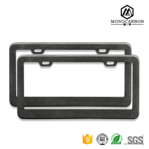 Car License Plate Frame, Carbon Fiber License Plate Holder for American Market pictures & photos