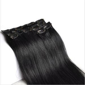 Indian Remy Clip in Human Hair Extensions pictures & photos