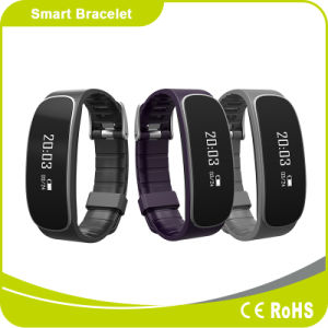 Silicone Bluetooth Smart Bracelet with Heart Rate Monitoring and Pedometer Function pictures & photos