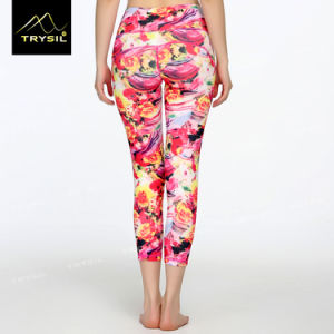 Custom Pattern Yoga Legging Gym Capri Pants for Women