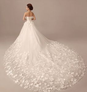 Fashion Flowers Beautiful Flowers Tail Care Wedding Dress pictures & photos