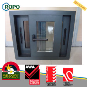 Aluminum Double Glazing Sliding Window with Mosquito Net pictures & photos