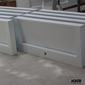 Kkr Customized White Solid Surface Acrylic Stone Bathroom Sink pictures & photos